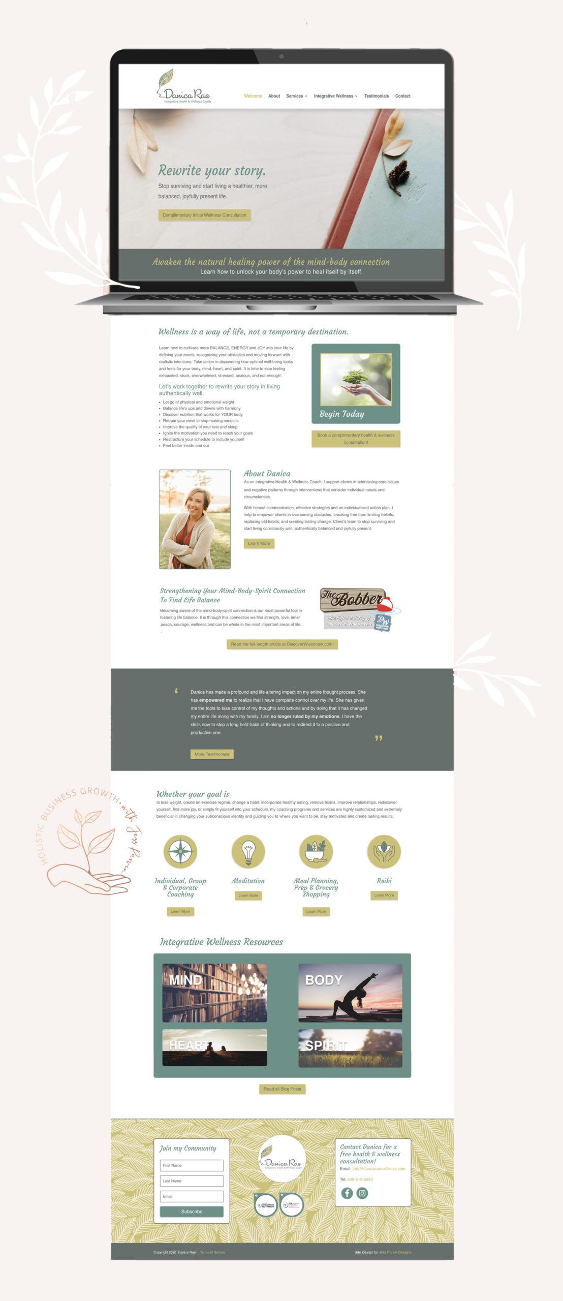 Danica Rae homepage design