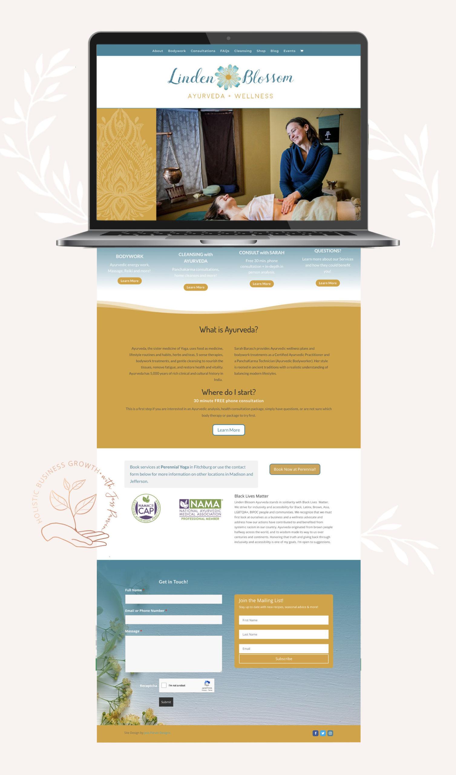 Linden Blossom homepage design