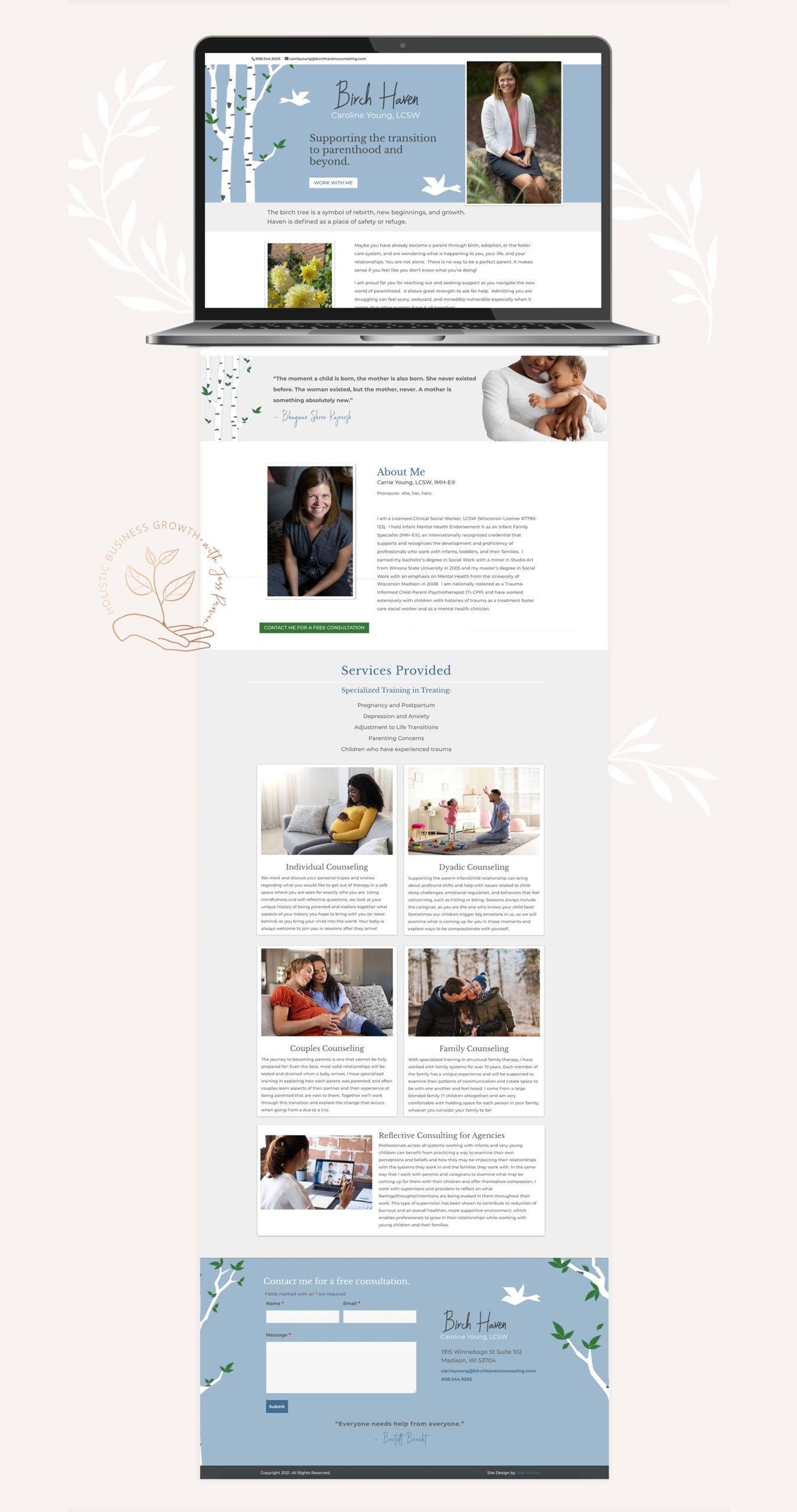 Revived Prosperity homepage design